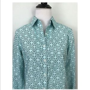Lands' End No Iron Supima Blouse